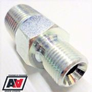1/4NPT TO 1/8BSP Cone Concave Seat - Oil Fuel Air Pipe Hose Line Adaptor